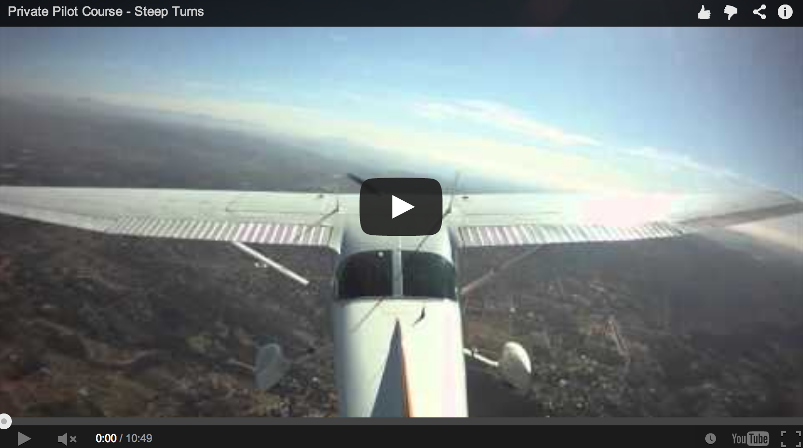 PRIVATE PILOT – STEEP TURNS